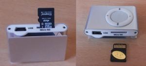 Polozaj kartice prije umetanja u MP3 player
